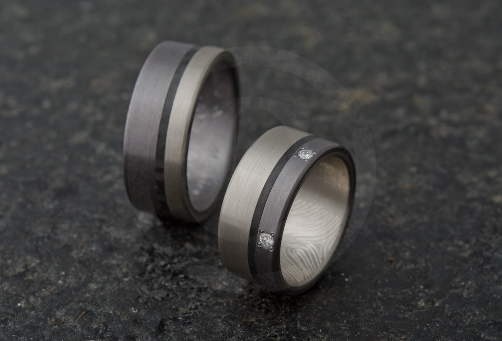 bague homme gris anthracite