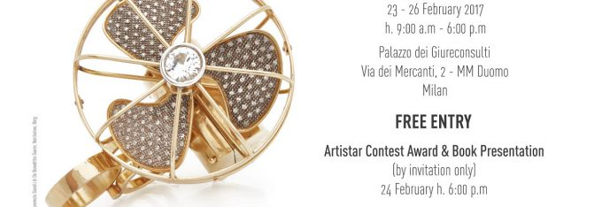 Artistar Jewels international contemporary jewellery during the Milan Fashion Week